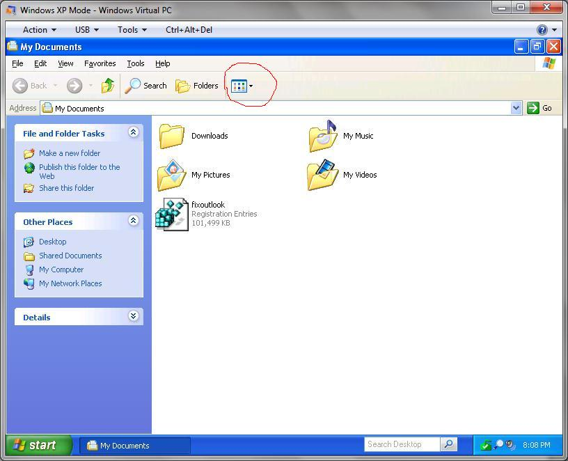 Windows  XP Example